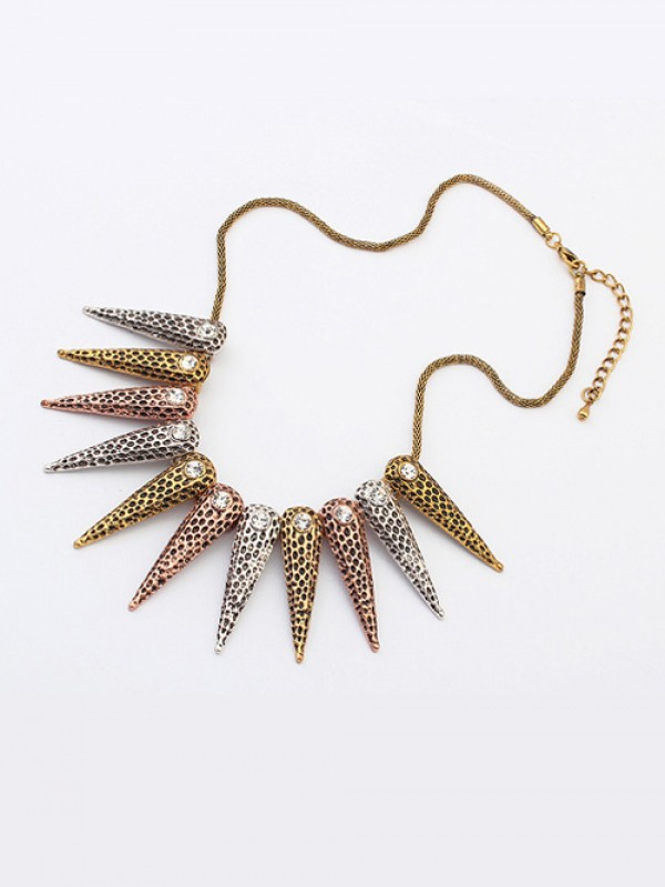 Occident Hyperbolic Exotic Punk Conical Necklace