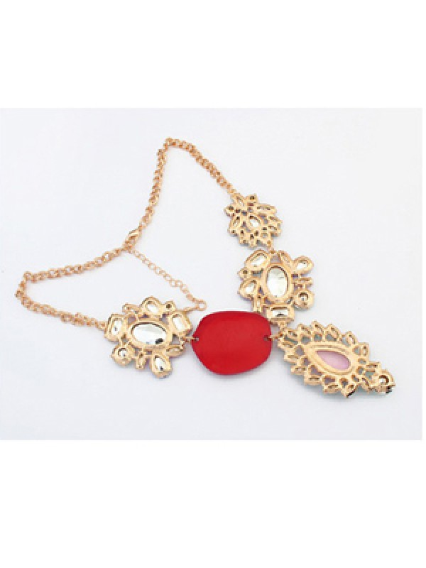 Occident Gorgeous Multicolor Trendy Necklace