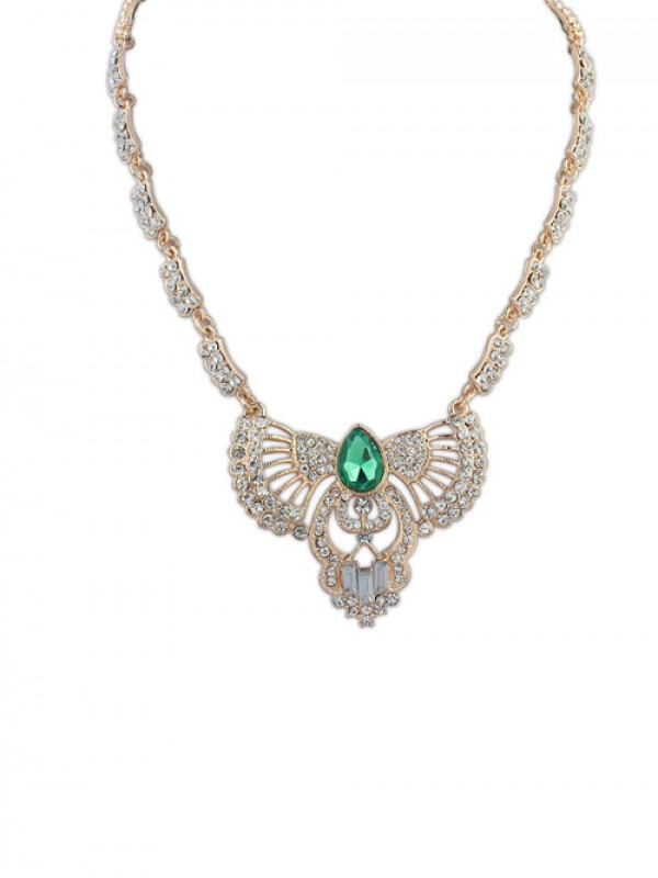 Occident Temperament With Diamonds Short Clavicle Necklace