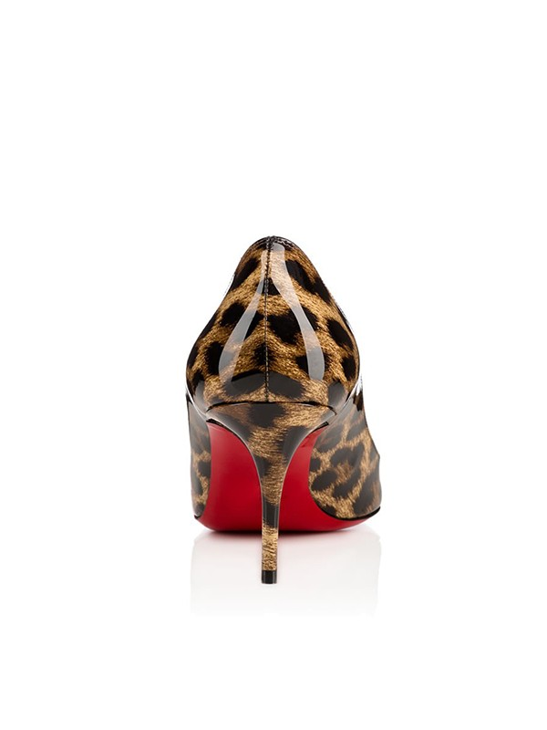 Women's Leopard Print Patent Leather Closed Toe Stiletto Heel Party Shoes