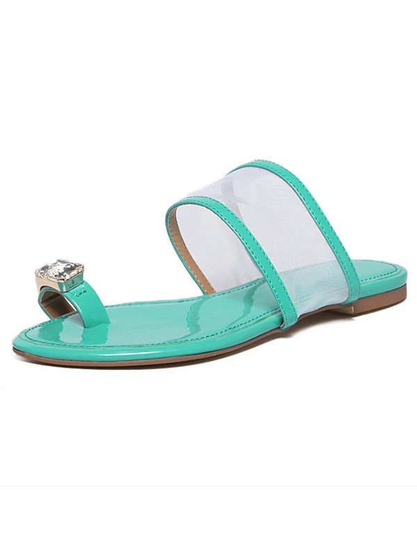 Women's Patent Leather Peep Toe Sandals