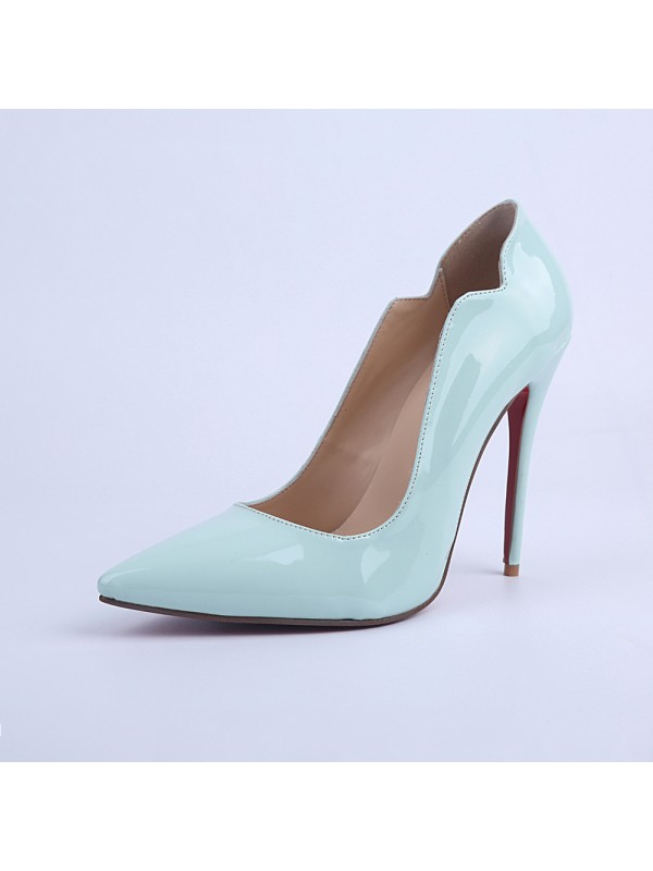 Women's Stiletto Heel Patent Leather Closed Toe Party Shoes