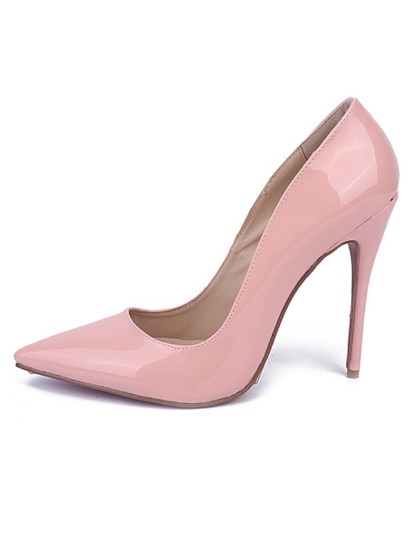 Women's Stiletto Heel Patent Leather Closed Toe Evening Shoes