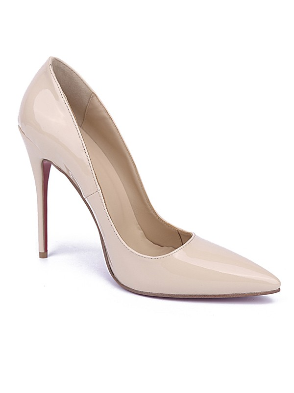 Women's Patent Leather Closed Toe Stiletto Heel Office Shoes