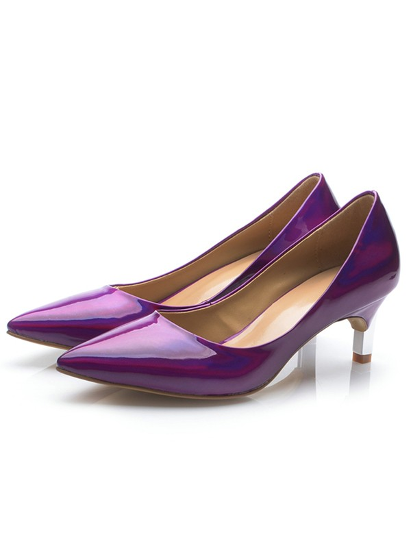 Women's Regency Patent Leather Closed Toe Cone Heel Party Shoes