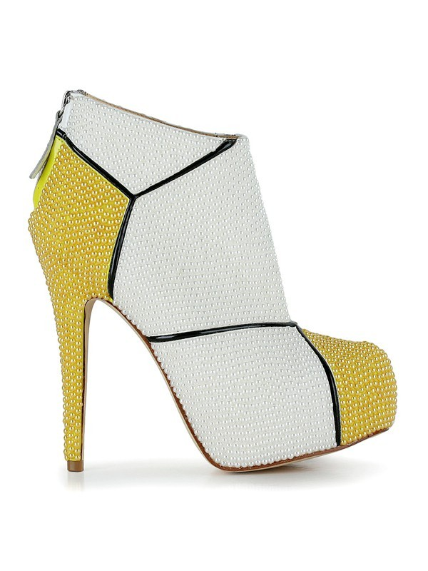Women's Patent Leather Stiletto Heel Closed Toe Booties/Ankle Boots