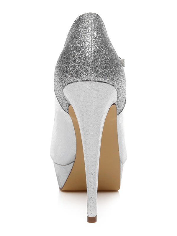 Women's PU Closed Toe With Buckle Stiletto Heel Wedding Shoes
