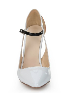 Women's Stiletto Heel Patent Leather Mary Jane Closed Toe Dress Shoes